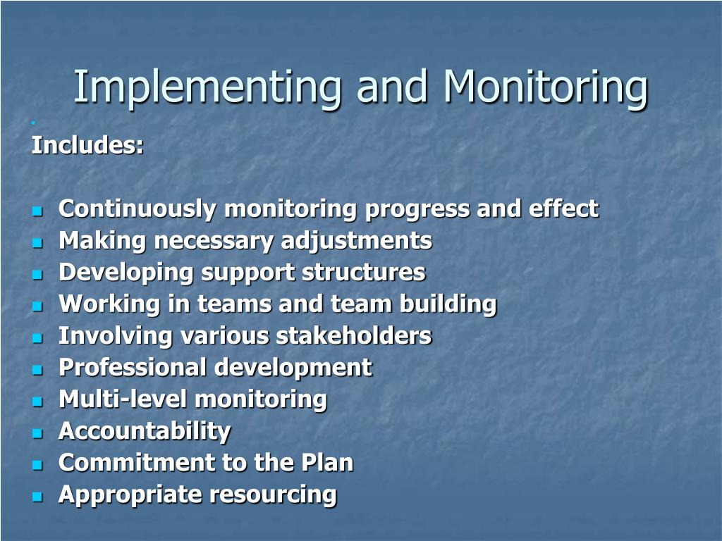 Implementing and Monitoring