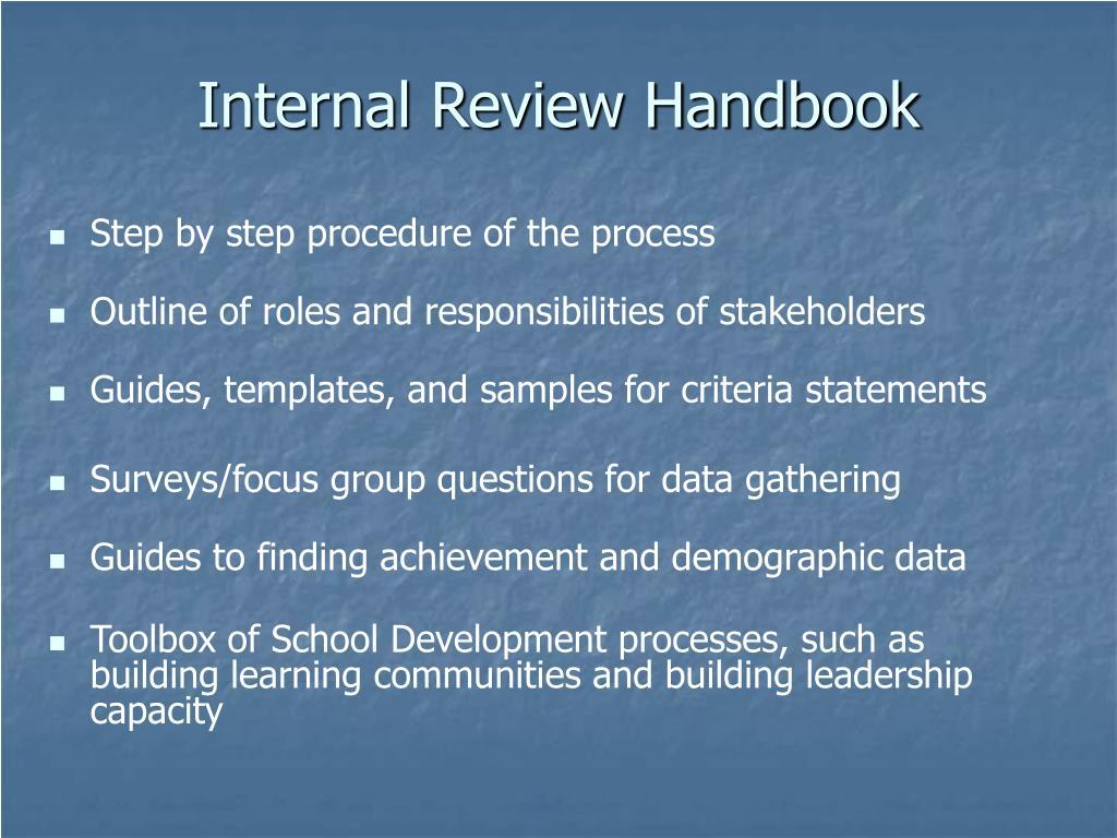 Internal Review Handbook