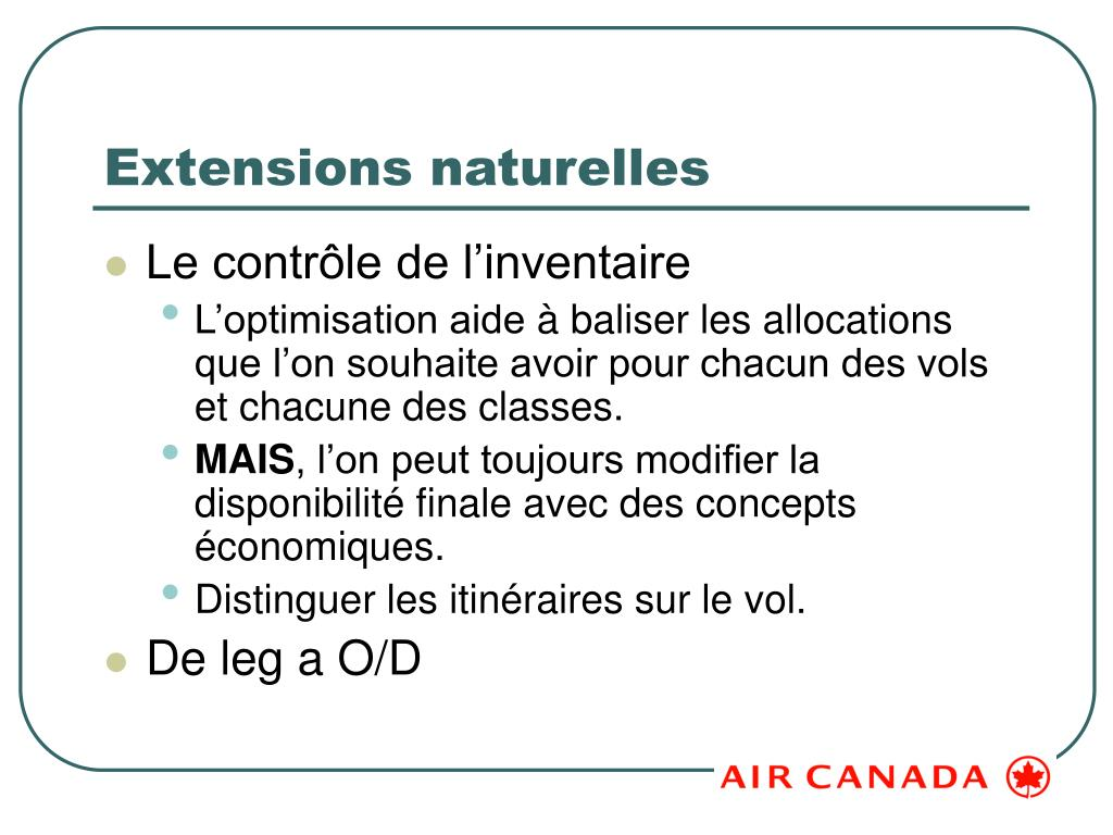 Extensions naturelles