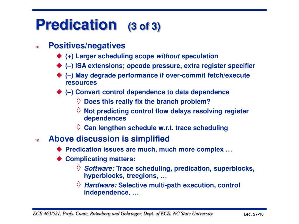Predication