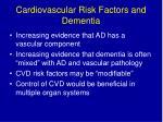 cardiovascular risk factors and dementia