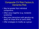composite cv risk factors dementia risk