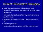 current preventative strategies