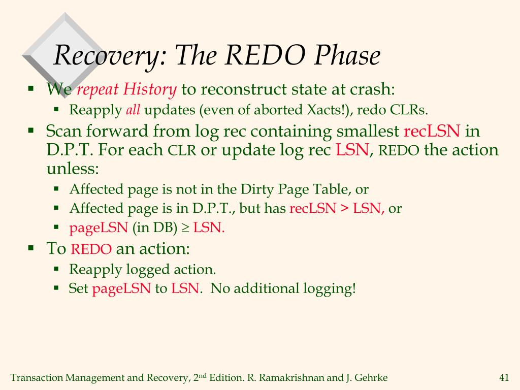 Recovery: The REDO Phase