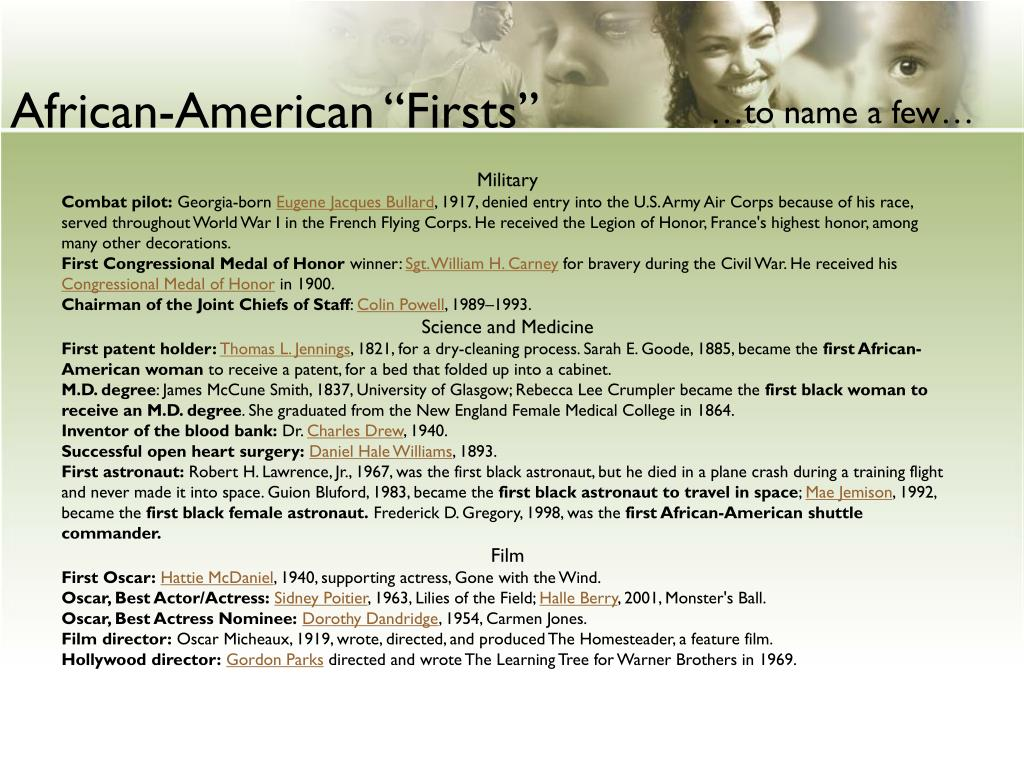 """African-American """"Firsts"""""""