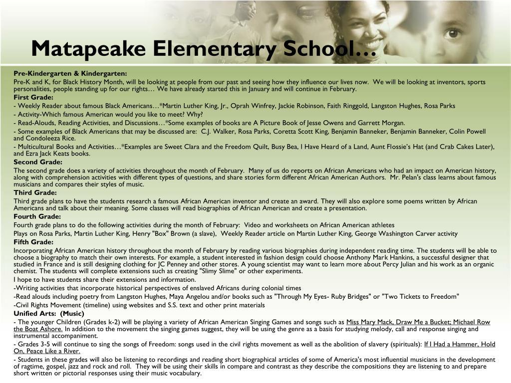 Matapeake Elementary School…