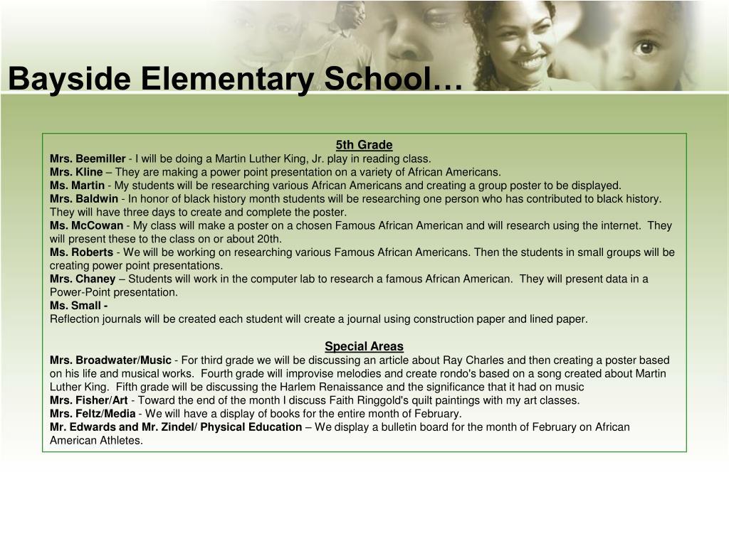 Bayside Elementary School…