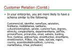 customer relation contd