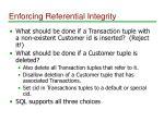 enforcing referential integrity