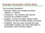 example transaction online store