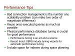 performance tips