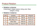 product relation