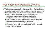 web pages with database contents