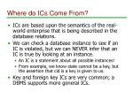 where do ics come from