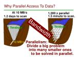 why parallel access to data