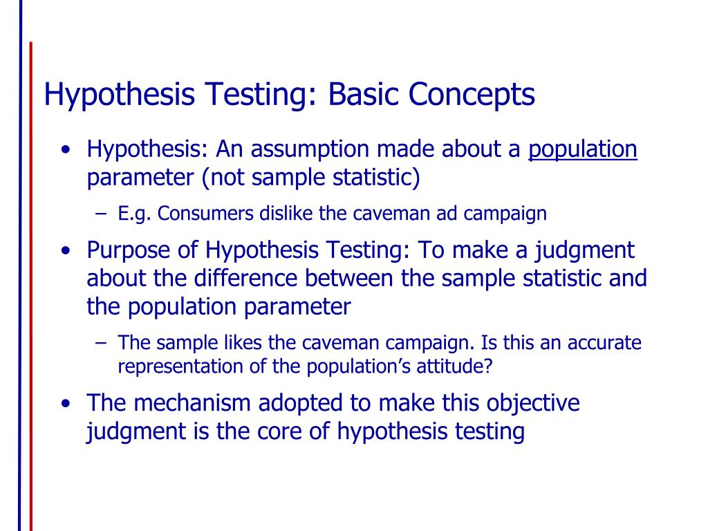 Hypothesis Testing: Basic Concepts