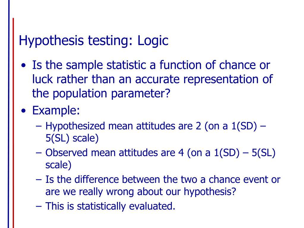Hypothesis testing: Logic