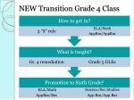 new transition grade 4 class