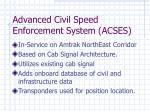 advanced civil speed enforcement system acses