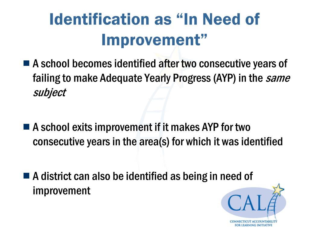 """Identification as """"In Need of Improvement"""""""