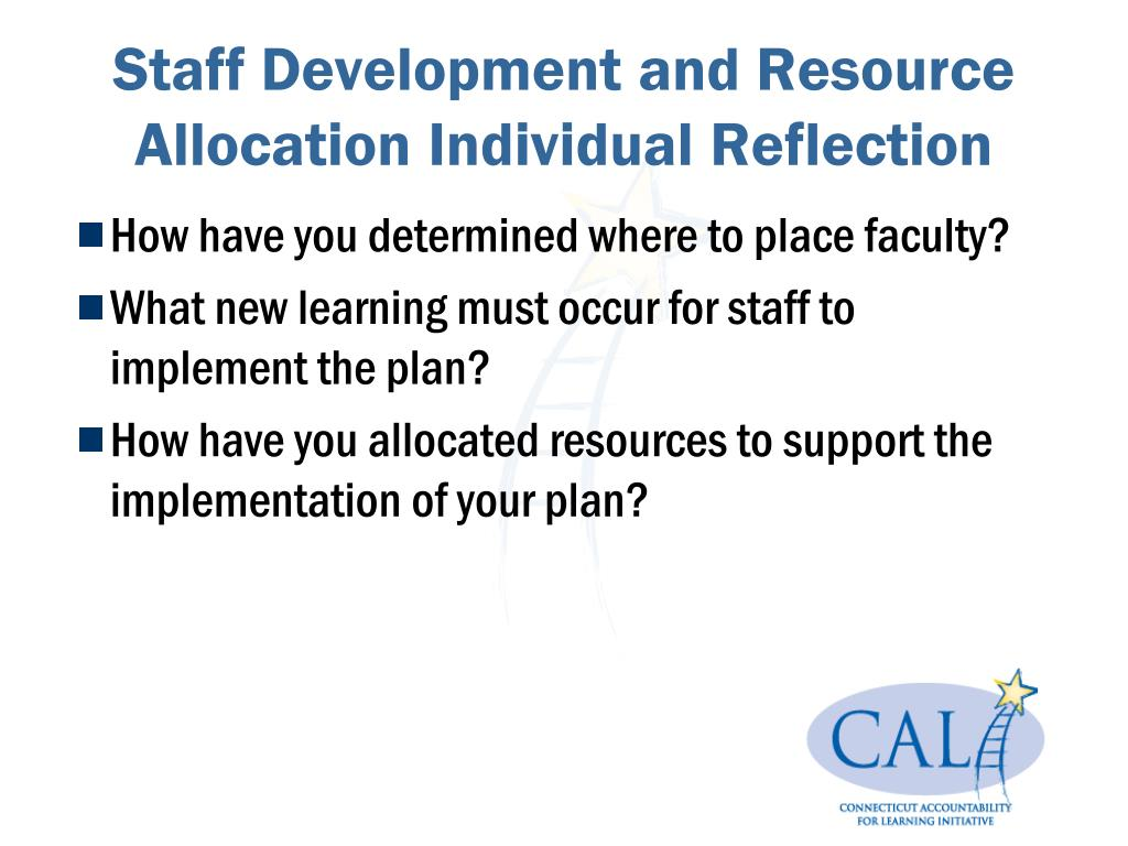 Staff Development and Resource Allocation Individual Reflection