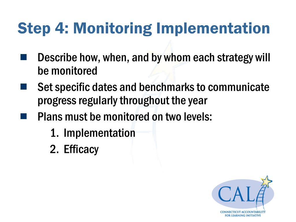 Step 4: Monitoring Implementation