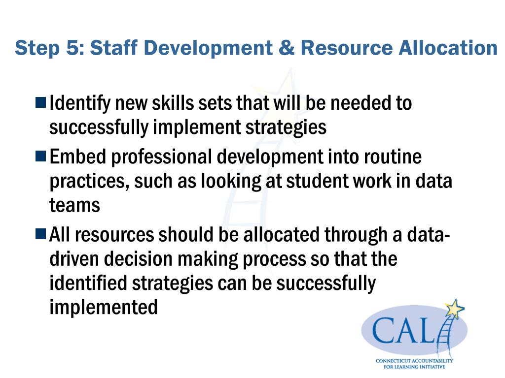 Step 5: Staff Development & Resource Allocation