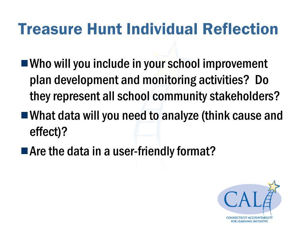 Treasure Hunt Individual Reflection