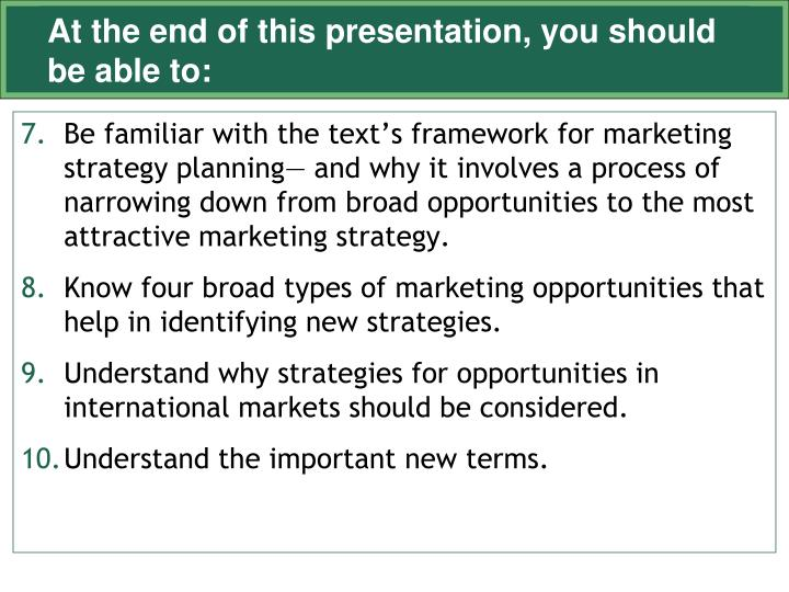 At the end of this presentation you should be able to3