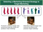 selecting a marketing oriented strategy is target marketing