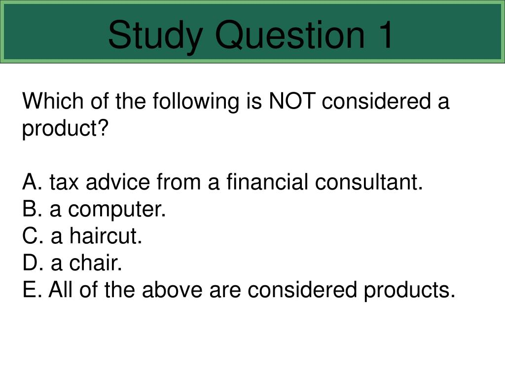 Study Question 1