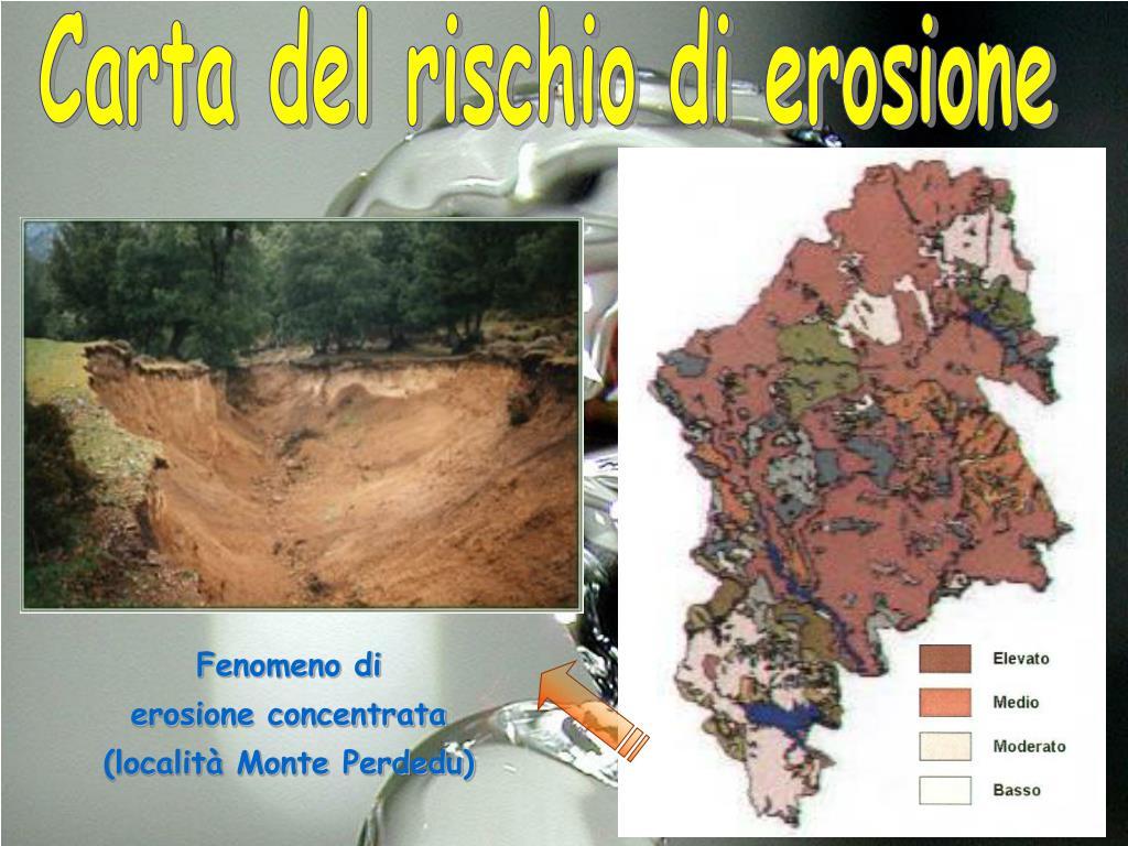 Carta del rischio di erosione