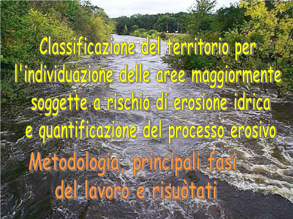 Classificazione del territorio per