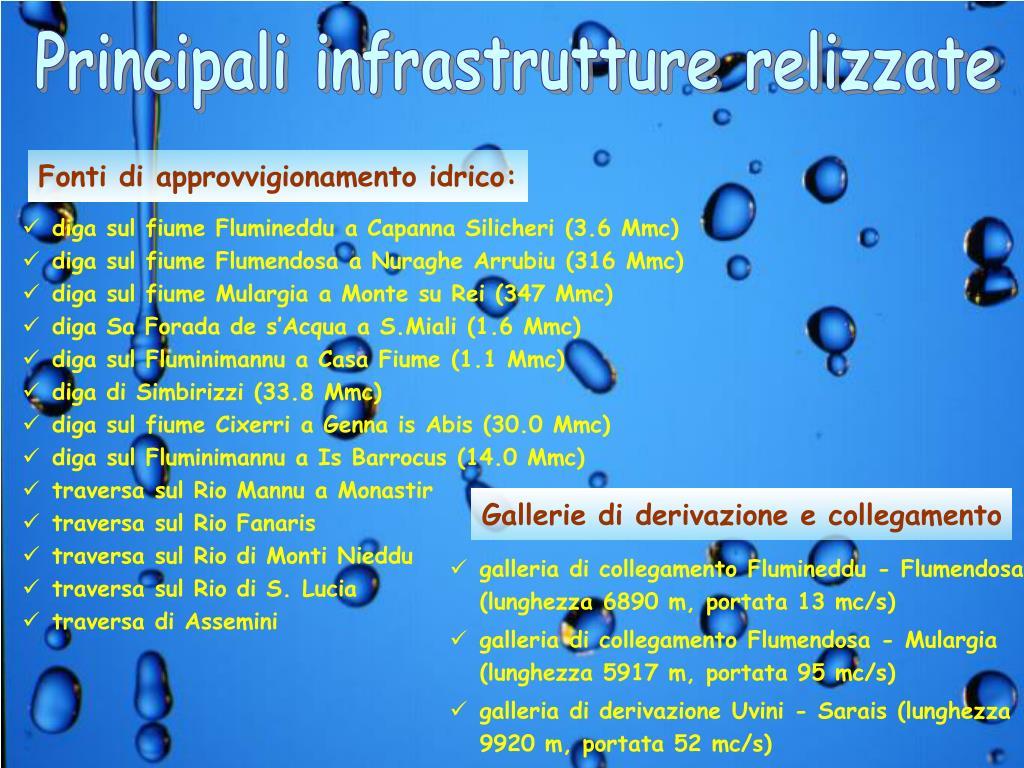Principali infrastrutture relizzate