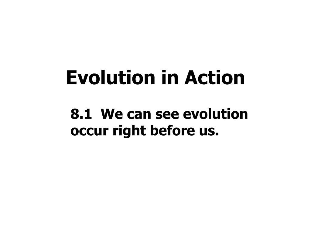 Evolution in Action