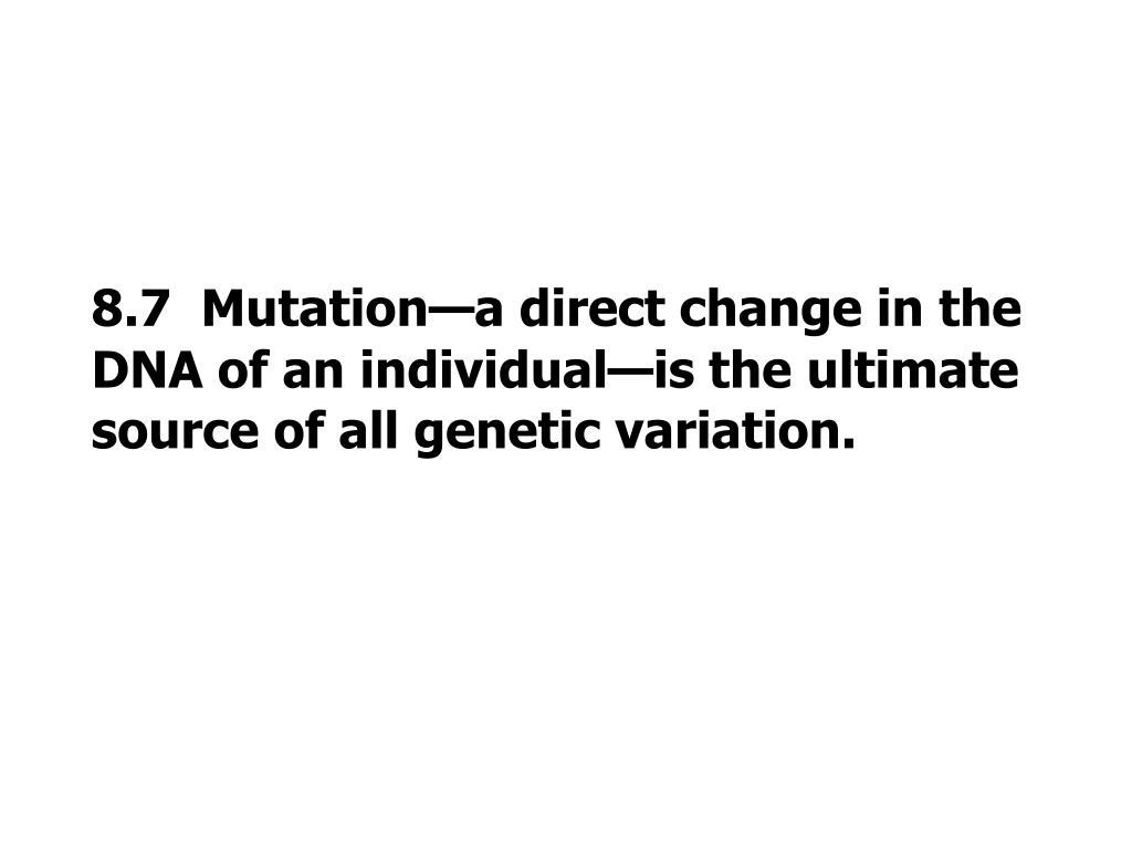 8.7  Mutation