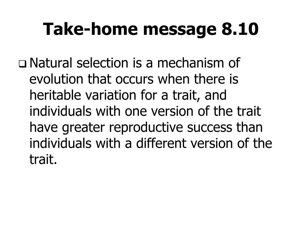 Take-home message 8.10