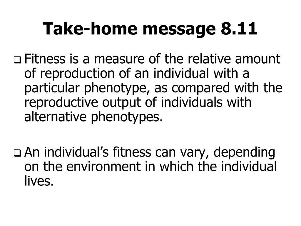 Take-home message 8.11