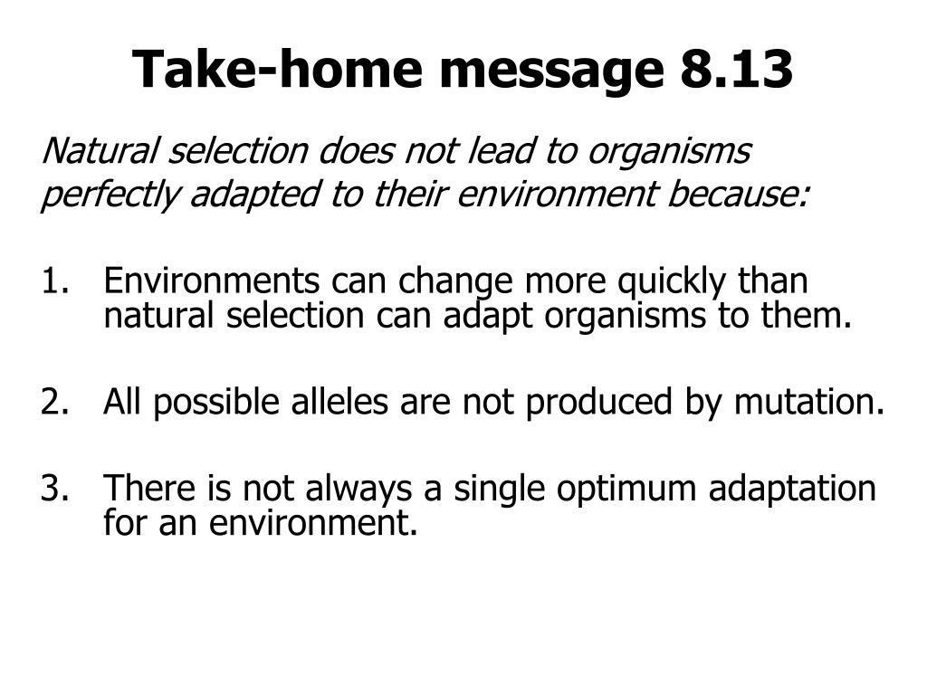 Take-home message 8.13