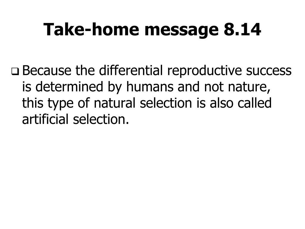 Take-home message 8.14