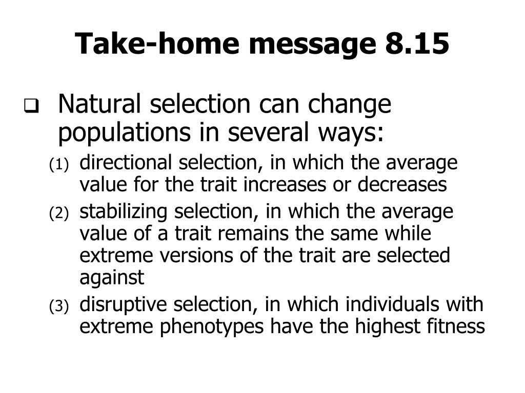 Take-home message 8.15