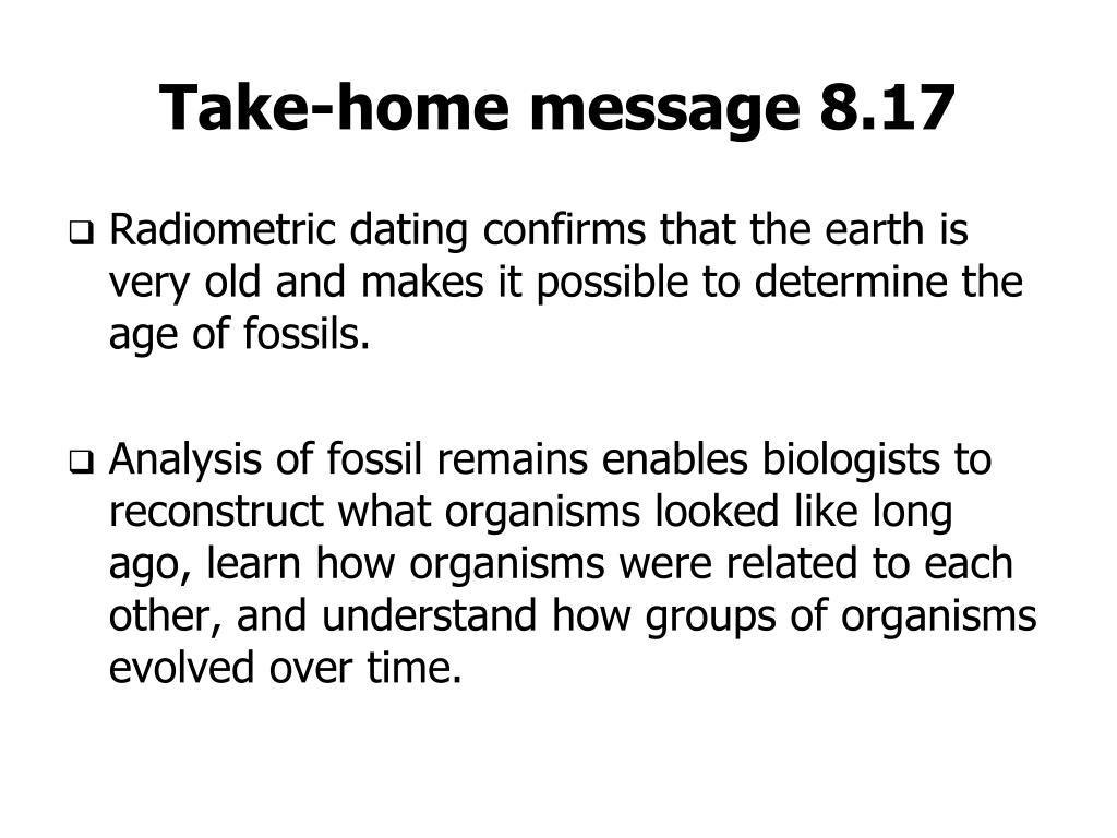 Take-home message 8.17