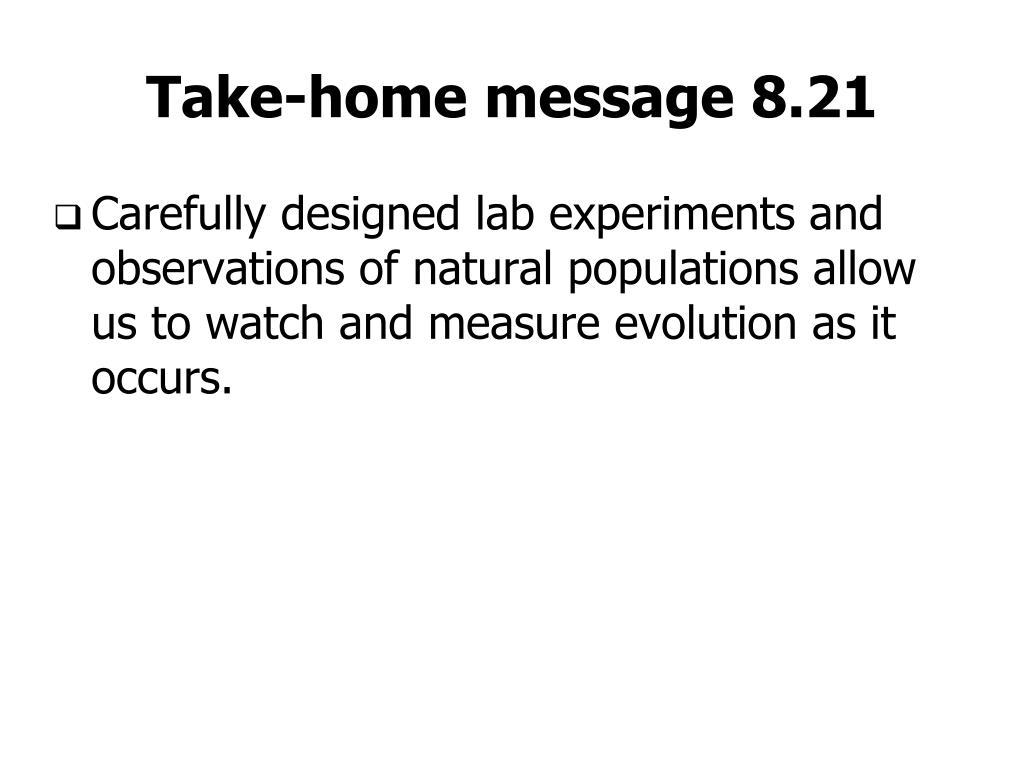 Take-home message 8.21