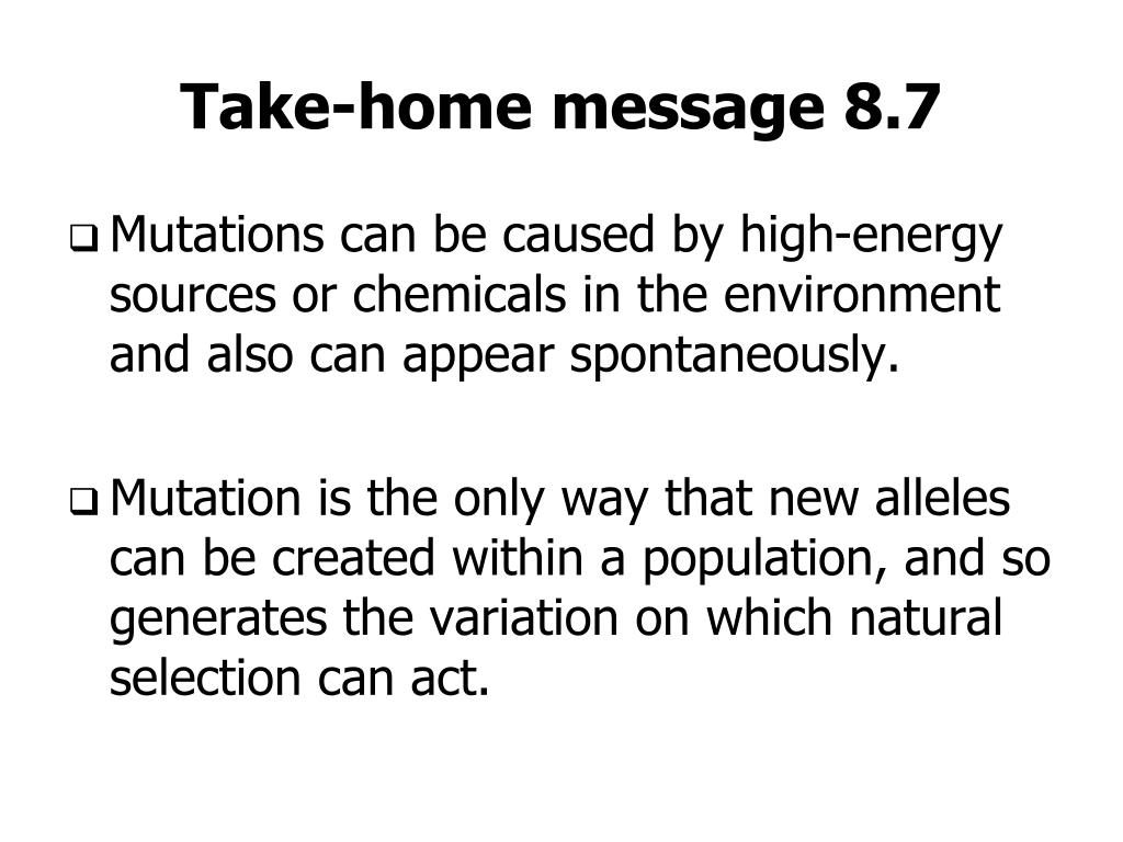 Take-home message 8.7