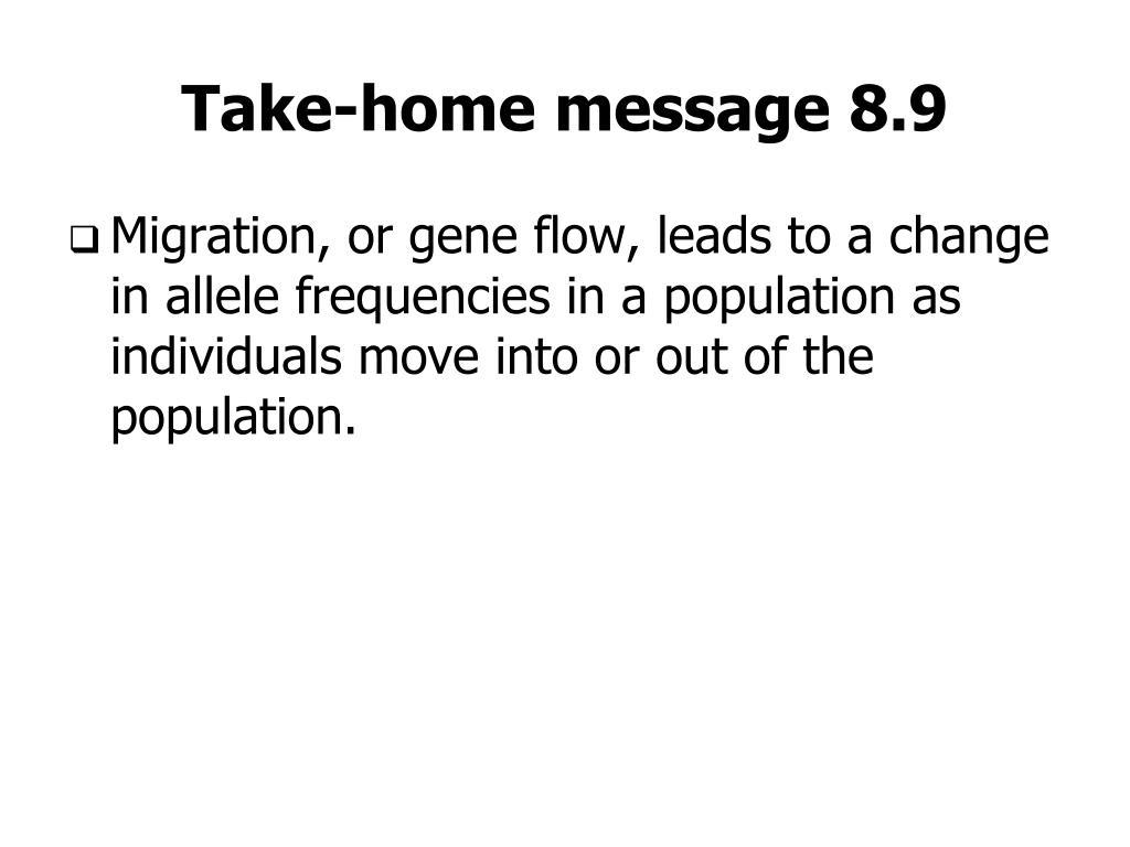 Take-home message 8.9