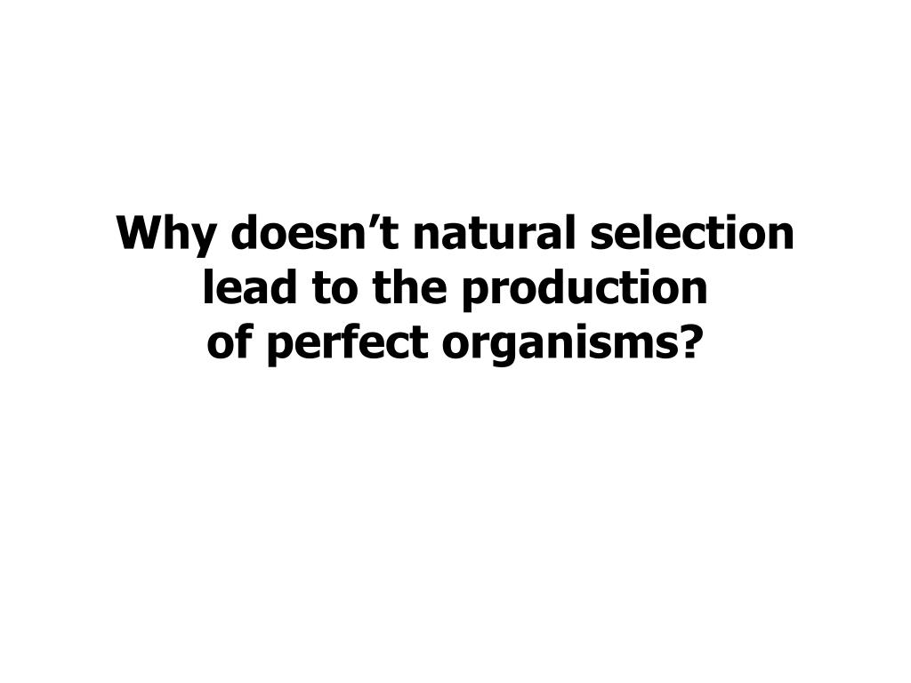 Why doesn't natural selection lead to the production