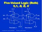 five valued logic roth 0 1 d d x