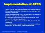 implementation of atpg