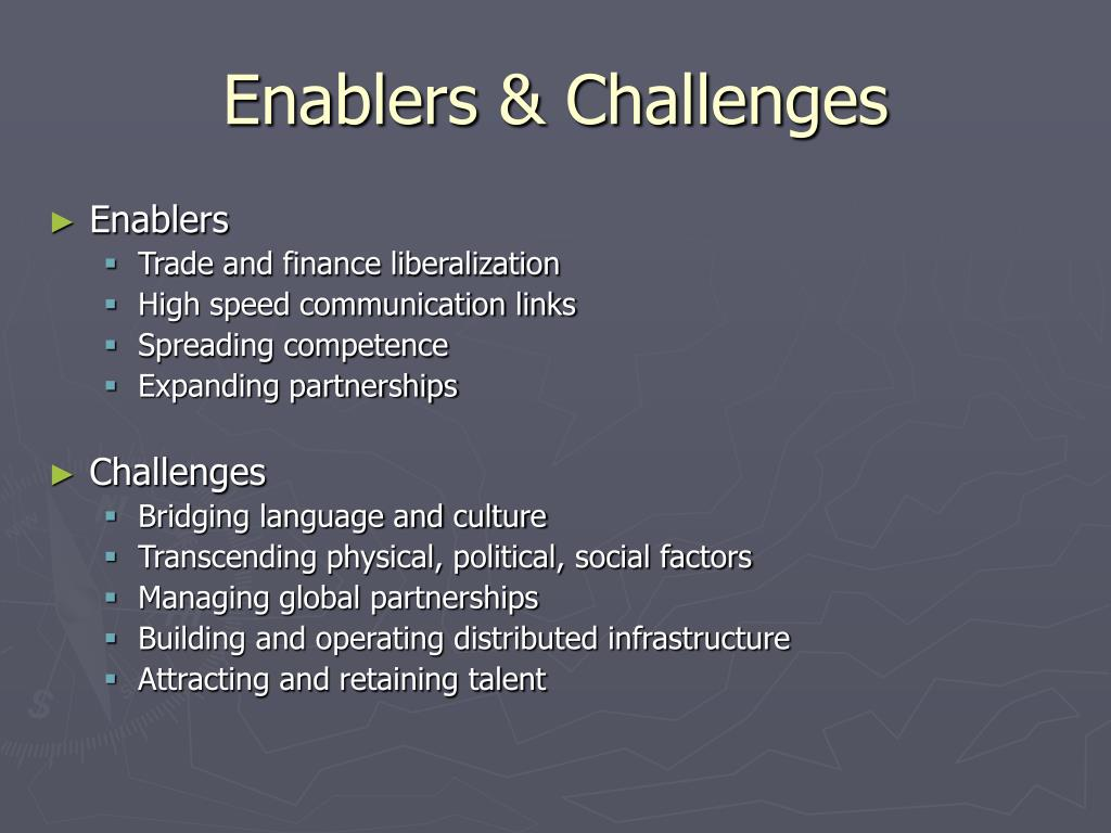 Enablers & Challenges