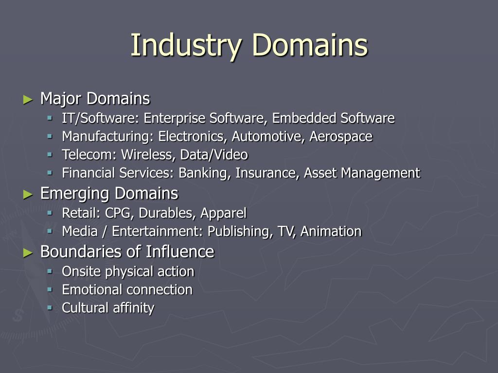 Industry Domains